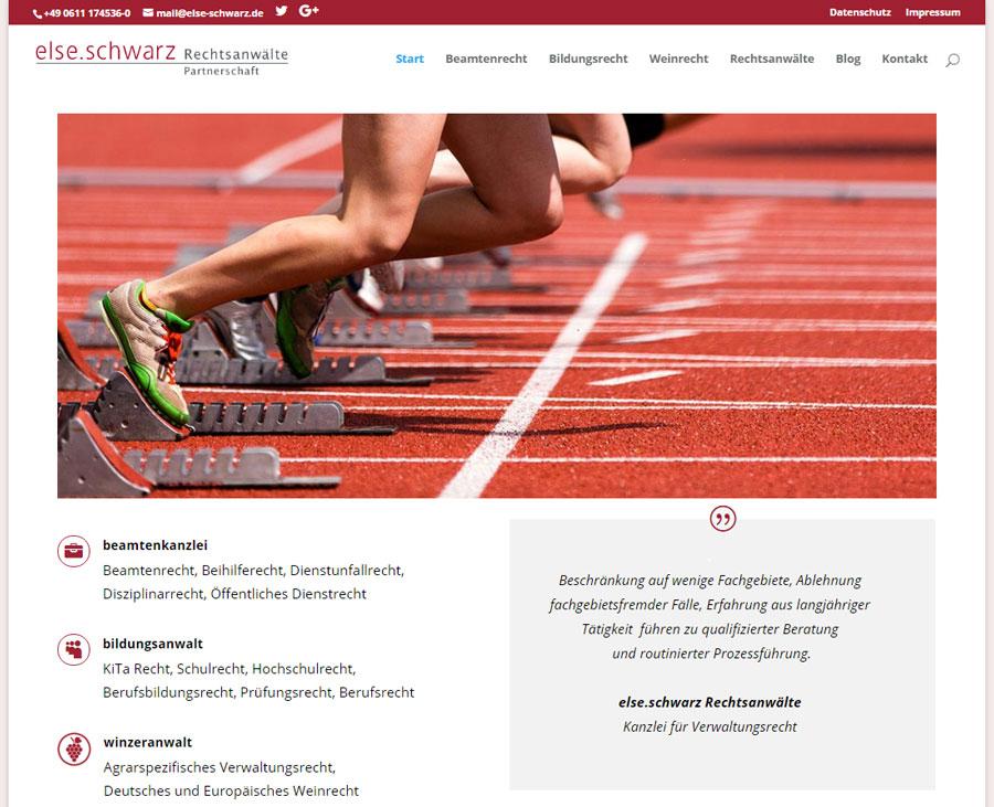 Webseite else.schwarz Relaunch