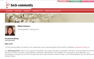 Schwarz im Blog Bildungsrecht, C.H. Beck Verlag